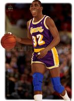Earvin Magic Johnson by diplines