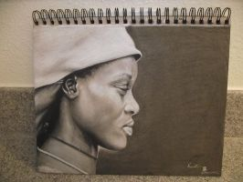 Charcoal Portrait by Hourglass4