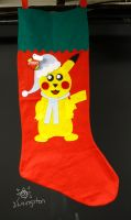 Giant Pikachu Stocking by MeMiMouse