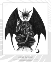 Lucifer-Baphomet by AnatiummiArts