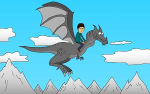 Todd rides the dragon by KaissE