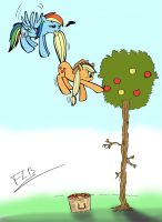 Let's help Applejack with her apples! by labba94
