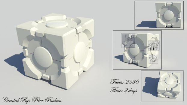 Companion Cube by IronPython