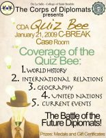CDA Quiz Bee Poster by flamable77