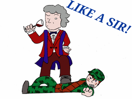 Like a Sir! 3rd Doctor (color) by crazyartist12