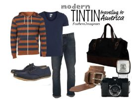 Modern Tintin in America by SouthernImagineer
