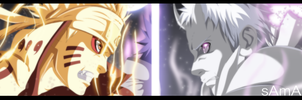 manga Naruto 651 - Naruto and Sasuke Vs Obito by sAmA15
