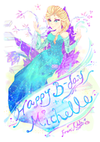 Elsa - for a friend's birthday by CloudN