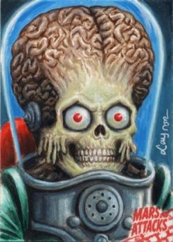 FOR SALE: Mars Attacks AP Sketch Card Return by DeJarnette
