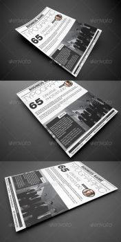Typographic Corporate Flyer by calwincalwin