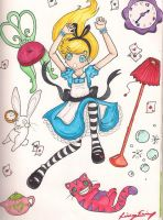 Alice in Wonderland by hihihellokitty
