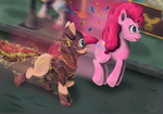 Flash Pone Vs The Pink Menace by Cryptic-Dash