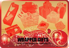 Wrapped Gifts Brushes by fiftyfivepixels