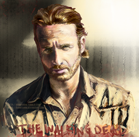 Rick Grimes The Walking Dead w Speed Painting by BonnyJohn