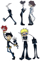 Celty and the Boys by Jen-the-Cat-desu