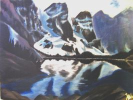 Moraine Lake and the Rockies by cheerflexie