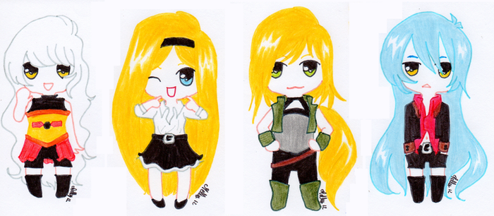 Chibi characters' Morfin by Melly-melo