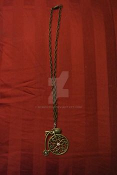 Pennyfarthing necklace by Nymphyish