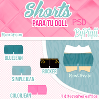 Shorts-Para tus Dolls- .PSD y.PNG by TutosCreateBluue
