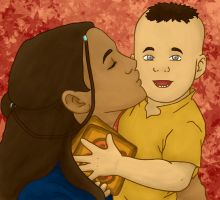 Katara and Tenzin by shango266