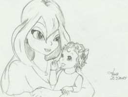 Bloom and her Baby by SilverHeartCrest