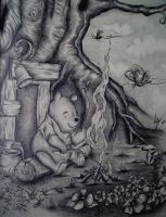 Pooh in pencil by boy140495