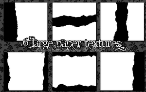 6 Large Paper Textures by FallenCrown