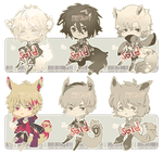 Auction  : Mixed Chibi Batch 1 [CLOSED] by HyRei