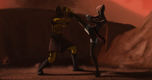 Savage Vs Ventress by Raikoh-illust
