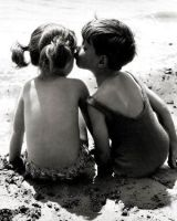 kids_kissing_ by CathCupcakes