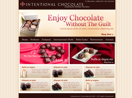 Intentional Chocolate by webgraphix