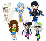 Assorted Chibis - OCs and Beauty Marks by Dragon-FangX