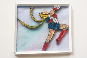 Paper Quilled Sailor Moon by Birds-In-The-Sky