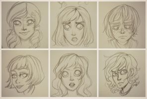 expressions - sketches by fanybunny