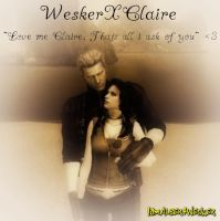 WeskerXClaire All I Ask of You by IamAlbertWesker