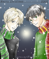 Harry+Draco: merry x-mas 2005 by forever01n02