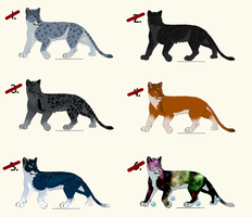 Feline Point Adoptables - ALL SOLD by Bilashakala