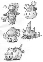 Sketches: Target Dummies by KupoGames