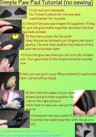 Simple Leather Paw Pad Tutorial by weisewoelfin