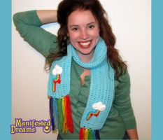 Rainbow Dash inspired scarf by ManifestedDreams