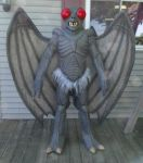 MOTHMAN full costume test fitting 1 by Vermithrax1