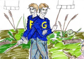 Fred and George by theaven