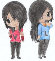 Twin Leny and Twin Viry-CHIBIS by twinLtwinV