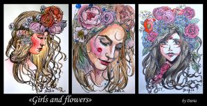girls and flowers by DariaGALLERY