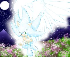 Angel Sonic Springtime by EvilMel