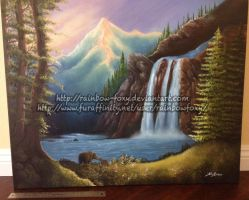 Finished Landscape Painting by Rainbow-Foxy