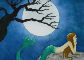 -:Midnight Mermaid:- by CarolineSuominen