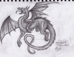 2 Hour Dragon Drawing by Phantisiare-Tigris