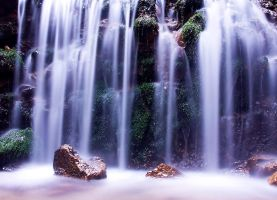 Waterfall in forest by lica20