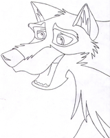 Happy Balto_Inked Outline by wildtiel